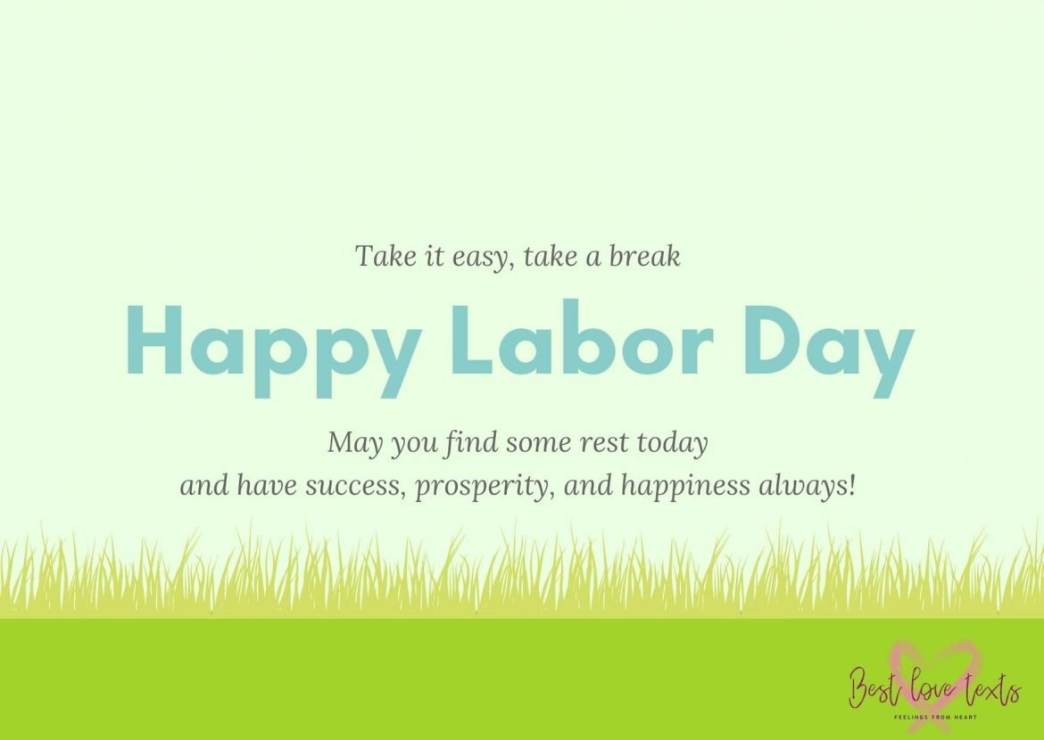 Green Illustrated Wild Racoon Labor Day Card