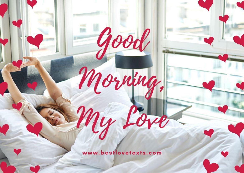 wish good morning to my love